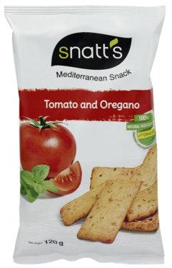 Snatts Brødsnacks Tomat & Oregano, 120 g