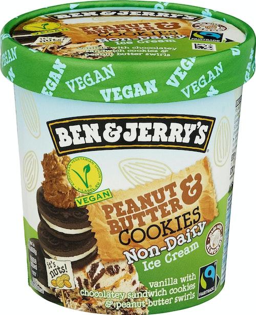 Ben & Jerry's Non-Dairy Peanut Butter Cookie Melkefri, 465 ml