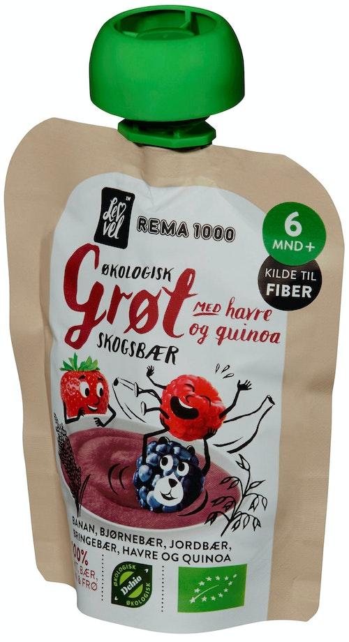 REMA 1000 Lev Vel Grøt Skogsbær & Quinoa Fra 6 mnd, 90 g