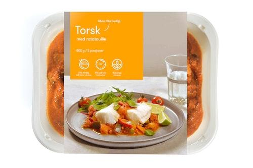 Oda Torsk Med Ratatouille Fiks ferdig, 2 Porsjoner, 800 g