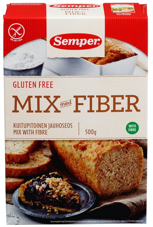 Semper Glutenfri Brødmix Med Fiber 500 g