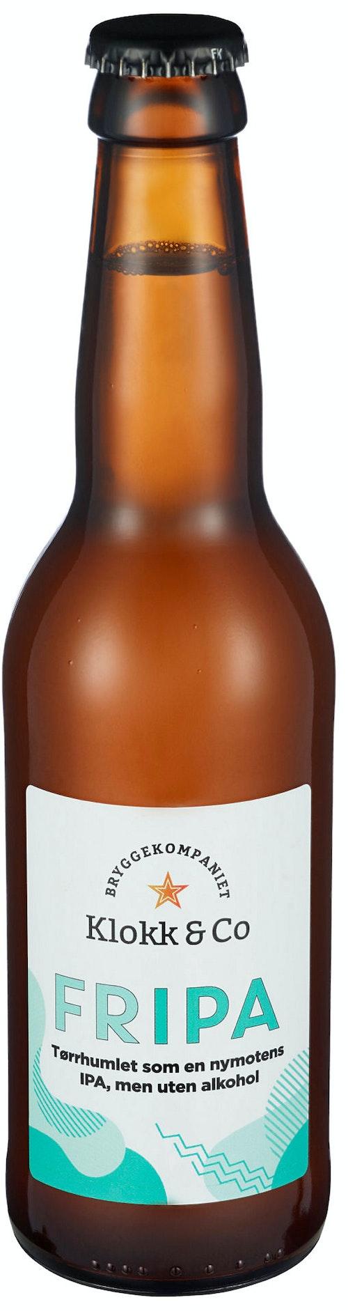 Klokk & Co FRIPA Alkoholfri IPA, 0,33 l