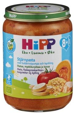 Hipp Stjernepasta flaskegresskar & kylling Fra 8 mnd, 190 g