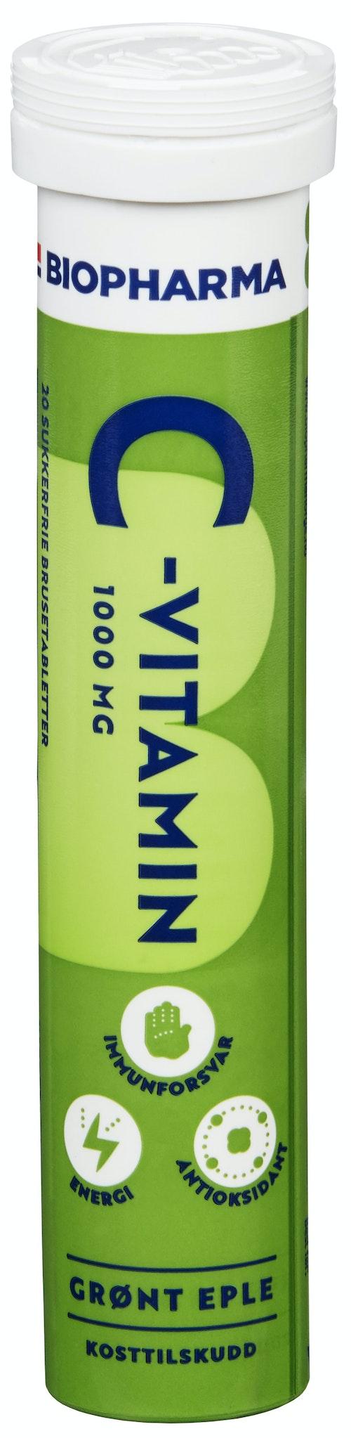 Biopharma C vitamin brusetab Eple 20 stk