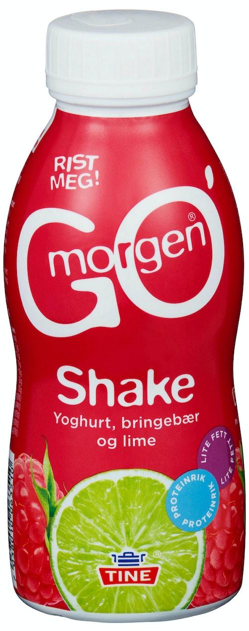 Tine Go'morgen Shake Med Bringebær & Lime, 2,5 dl