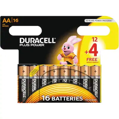 Duracell Batteri AA12 Plus Power 16 stk