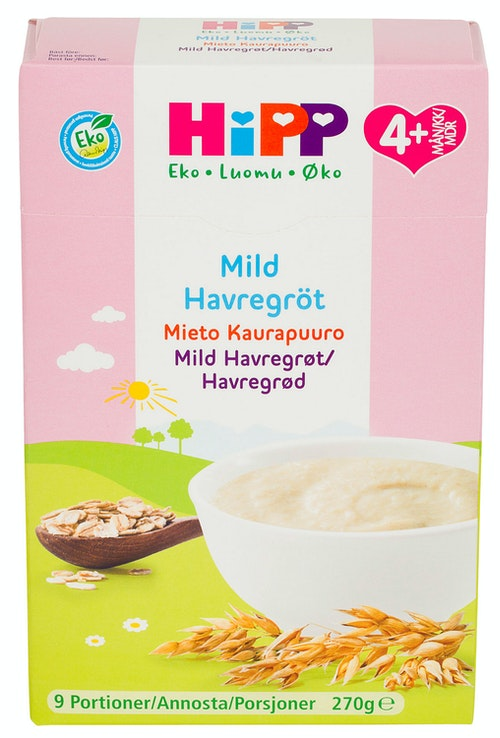 Hipp Mild Havregrøt Fra 4 mnd, 270 g