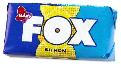 Cloetta Malaco Fox Sitronkaramell 2 biter, 14,5 g
