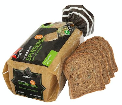 Pure Food Spire Brød Skåret, Glutenfri, Fryst, 500 g