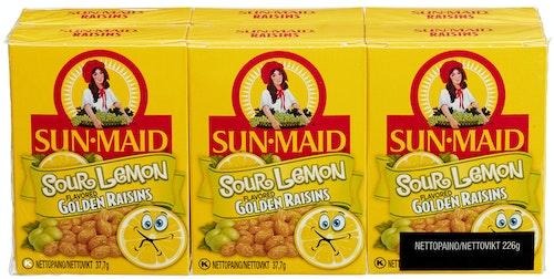Sun·Maid Rosiner Sour Lemon 6pk 6 x 37,7g, 226,2 g