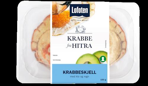Lofoten Hitra Krabbeskjell Med Klo og Rogn, 150 g
