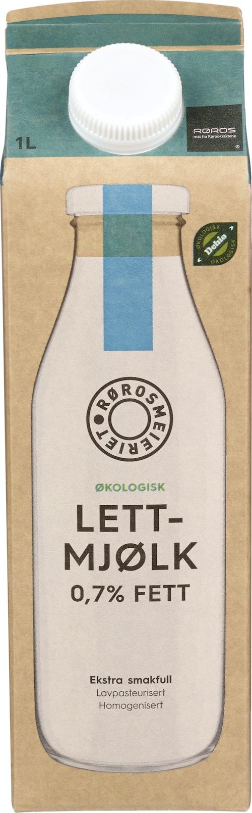 Rørosmeieriet Rørosmjølk Økologisk 0,7% Fett, 1 l