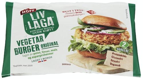 Liv Laga Vegetarburger 2 stk, 250 g