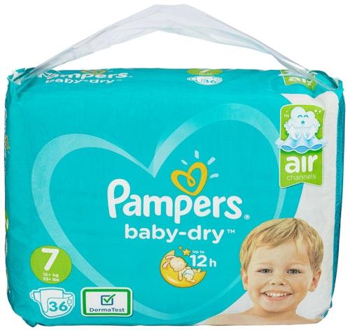 Pampers Pampers Bleie Baby Dry Str.7 15+kg, 30 stk