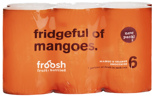 Froosh Smoothie Mango & Appelsin 6 x 150ml, 900 ml