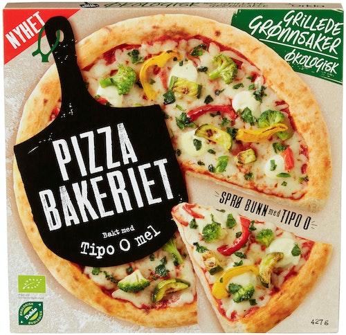 Pizzabakeriet Pizza med Grillede Grønnsaker Økologisk, 427 g