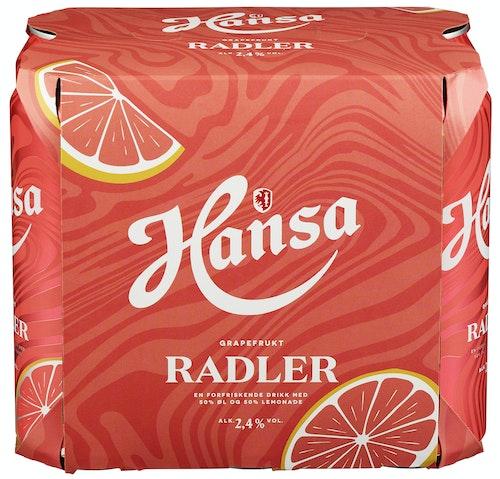 Hansa Borg Hansa Radler Grapefrukt 6 x 0,5l, 3 l