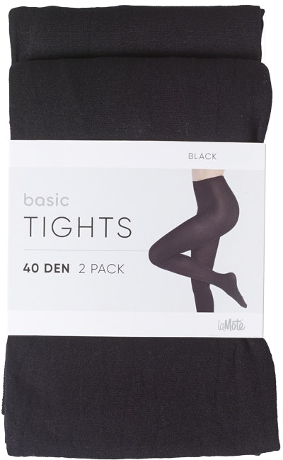 Pierre Robert Basic Tights 40 DEN Black, str. 40-44, 2 stk