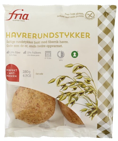 Fria Havrerudstykker Glutenfri, 280 g