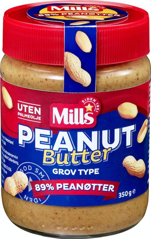 Mills Peanutbutter Grov, 350 g