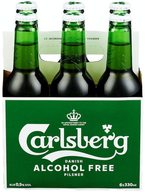 Carlsberg Carlsberg Alcohol Free Flaske 6 x 0,33l, 1,98 l