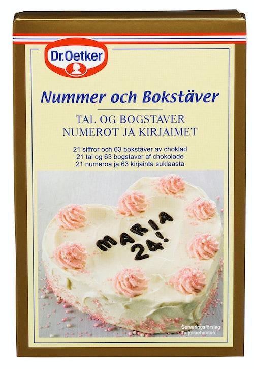 Dr. Oetker Bokstaver & Tall i Sjokolade 60 g