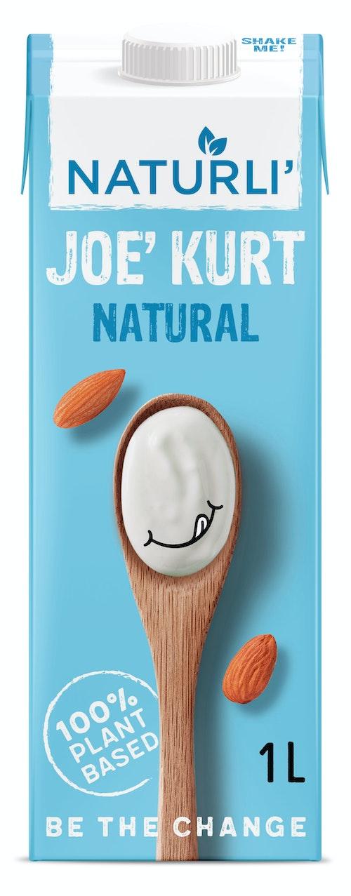 Naturli' Joe Kurt Vegansk Yoghurt Naturell, 1 l