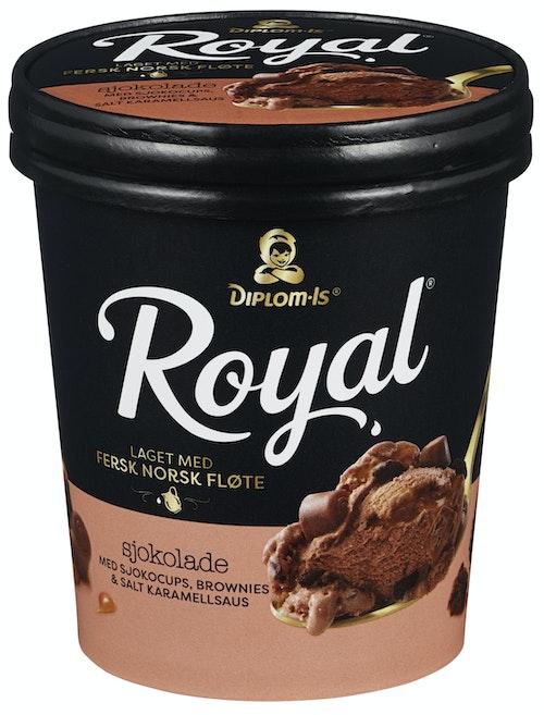 Diplom-Is Royal Sjokolade med Sjokocups 0,5 l
