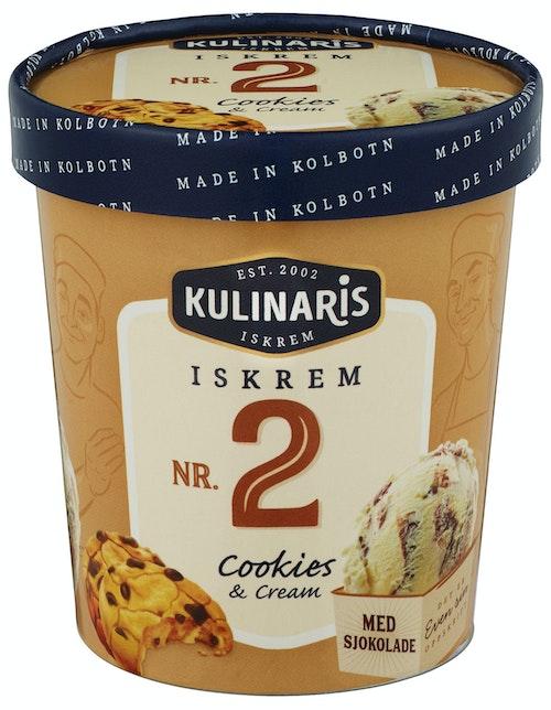Kulinaris Cookies & Vanilje-Iskrem 0,5 l
