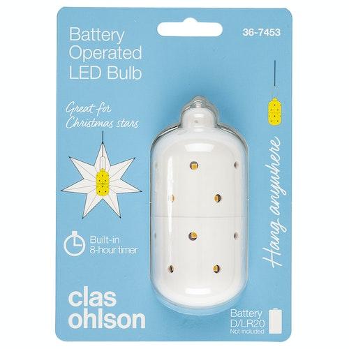 Clas Ohlson Ledpære uten ledning Batteri kjøpes separat (LR20), 1 stk