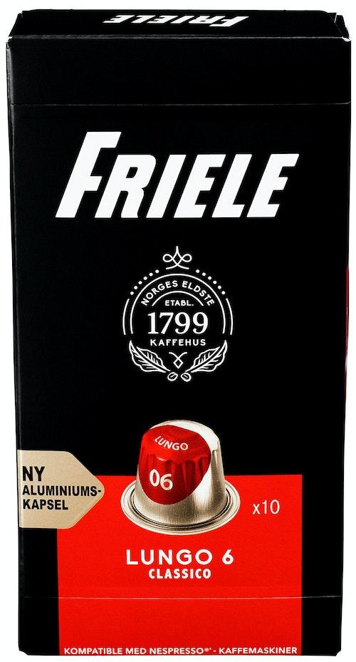 Friele Friele Lungo 6 Kapsler, 10 stk