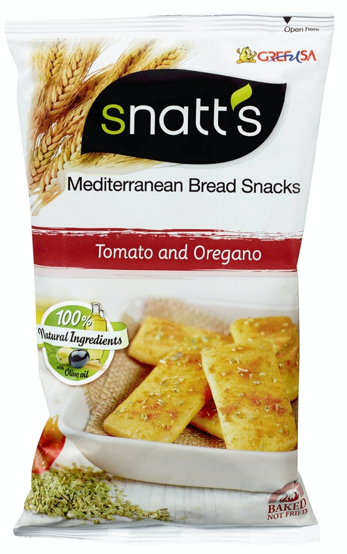 Snatts Brødsnacks Tomat & Oregano, 120 g