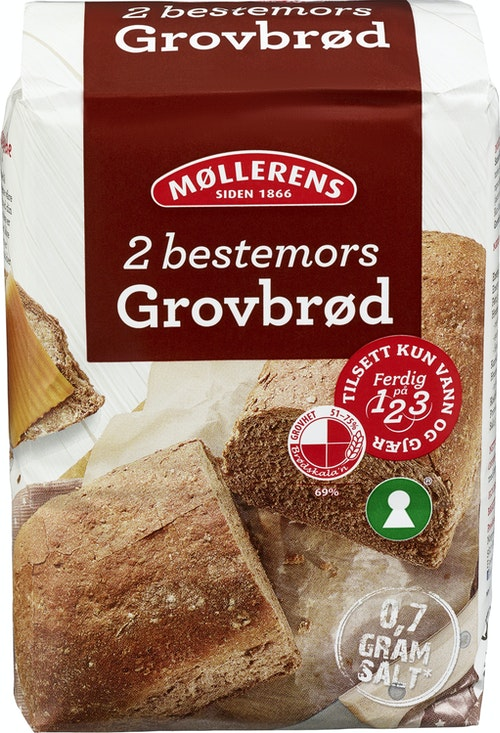 Møllerens Grovbrød Mix 1 kg