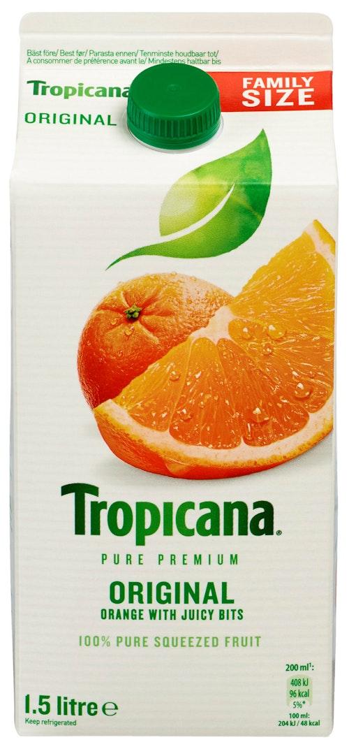 Tropicana Appelsinjuice Med Fruktkjøtt Original 1,5 l