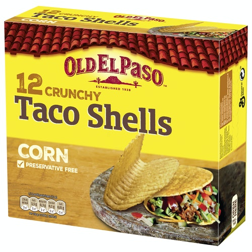 Old El Paso Taco Shells 12pk, 156 g