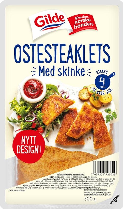 Gilde Ostesteaklet Med Røkt Skinke 300 g