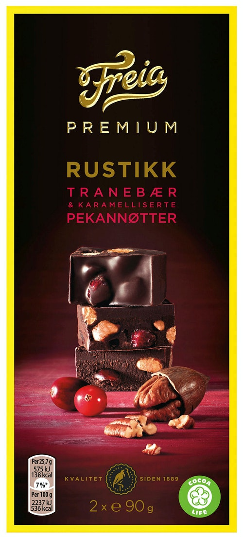 Freia Premium Tranebær & Pekan 180 g