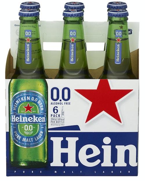 Heineken Heineken 0.0% Alkoholfri, 6 x 0,33l, 1,98 l