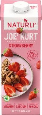 Naturli' Joe Kurt Vegansk Yoghurt Jordbær, 1 l