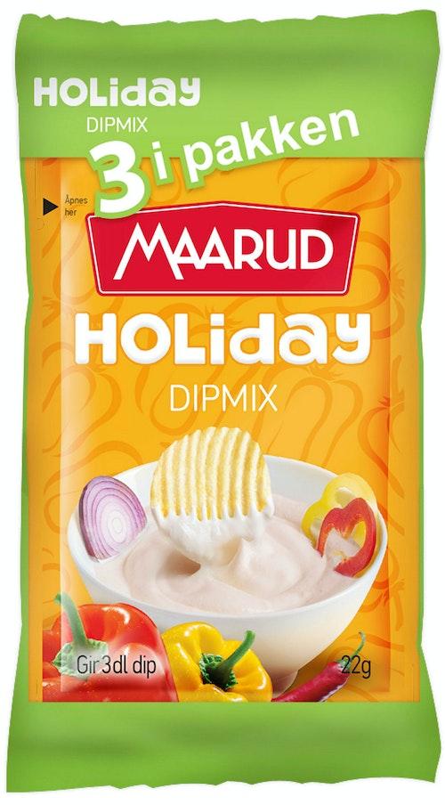 Maarud Dipmix Holiday, 3-pakk, 66 g