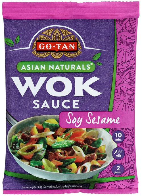 Go Tan Soya Sesam Asian Naturals Woksaus 120 g