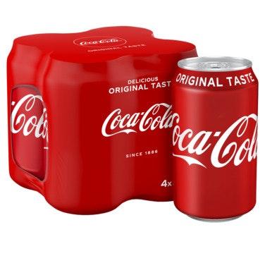 Coca-Cola Coca-Cola Regular 4 x 0,33l, 1,32 l