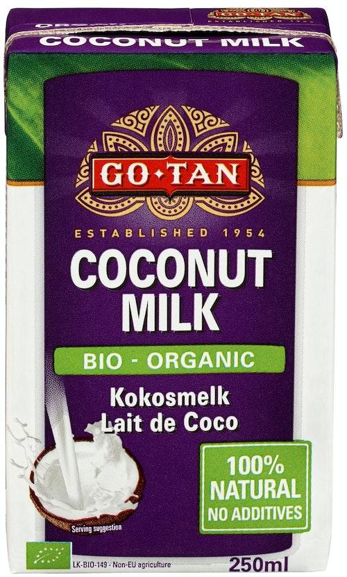 Go Tan Kokosmelk Økologisk, 250 ml