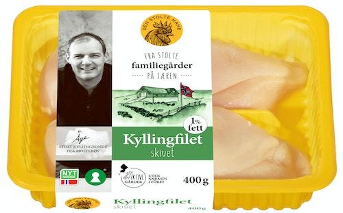 Den Stolte Hane Fersk kyllingfilet i Skiver 400 g