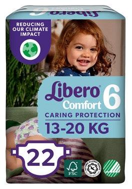 Libero Comfort Str 6 13-20 kg, 22 stk