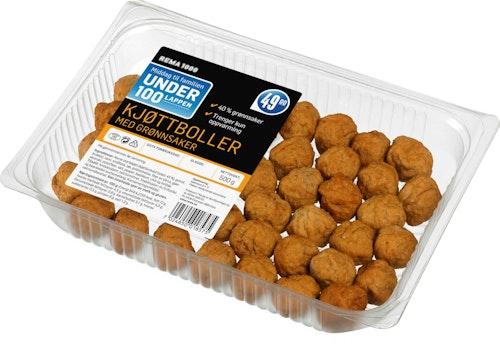 REMA 1000 Kjøttboller med Grønnsaker 500 g
