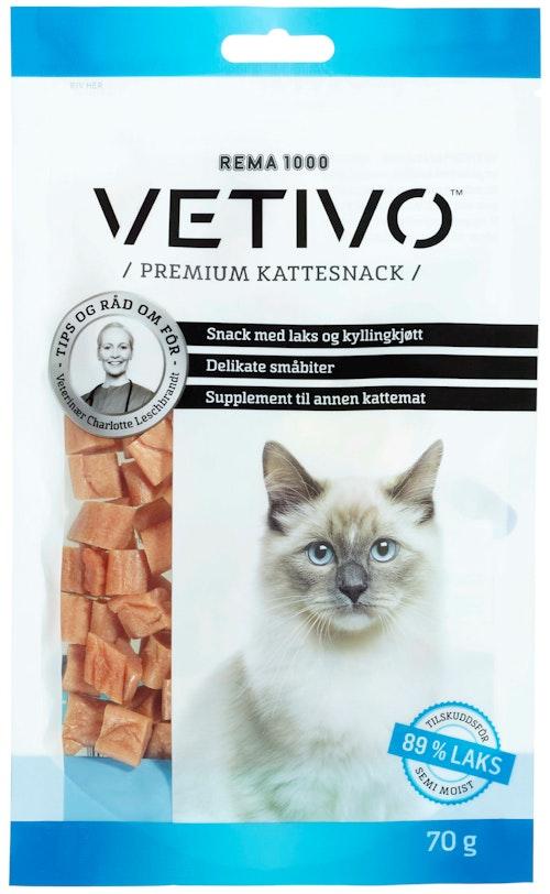 Vetivo Laksesnacks Til Katt 70 g