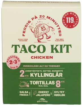 Solvinge Taco Kit Chicken Til 2-3 Personer, 1,15 kg