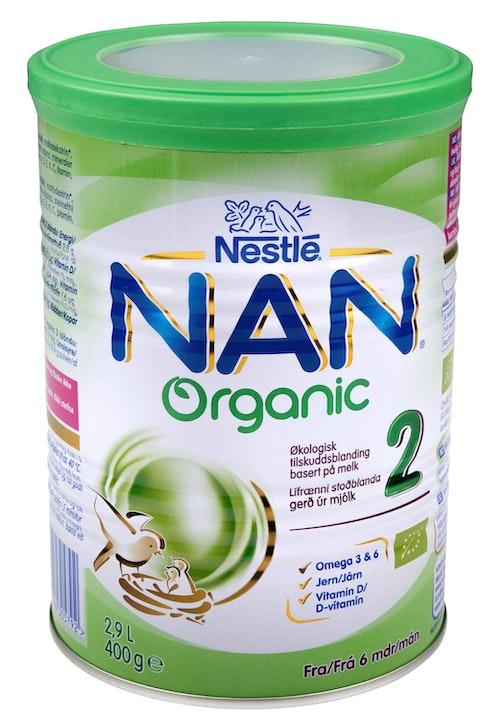 Nestlé Nan 2 Økologisk Fra 6 mnd, 400 g