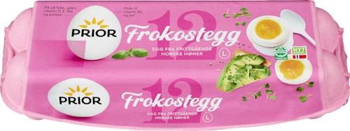 Prior Frokostegg Fra  Frittgående Høner Str L, 12 stk